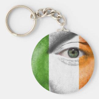 Unique Irish Flag design on your Cool Gift Basic Round Button Keychain