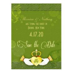 Unique Irish Wedding Save The Date Postcard at Zazzle