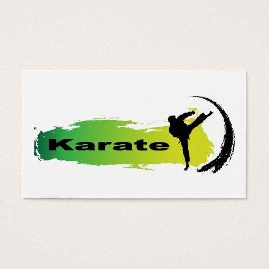 Unique Karate Business Card