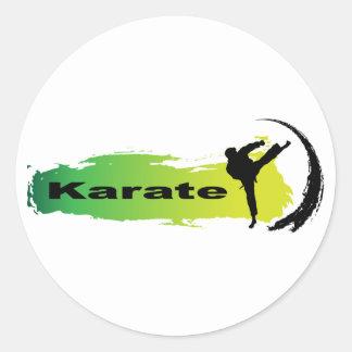 Unique Karate Classic Round Sticker