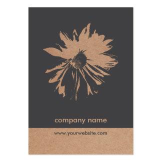 Unique Kraft Paper Flower Pattern Floral Design Large Business Card