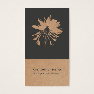 Unique Kraft Paper (printed) Flower Pattern Floral Business Card
