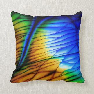 Unique Labradorite Gemstone Square Throw Pillow
