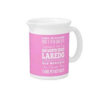 Unique Laredo, Texas Gift Idea Pitchers