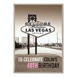 Unique Las Vegas Birthday Party Invitation