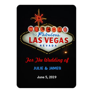 "Unique Las Vegas Wedding Formal Invitation 5"" X 7"" Invitation Card"