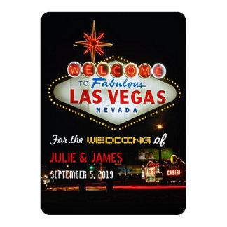 Unique Las Vegas Wedding Formal Invitation