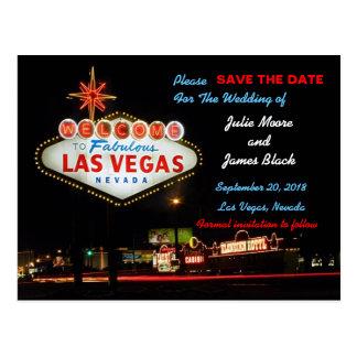 Unique Las Vegas Wedding Save The Date Postcard