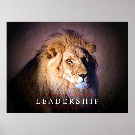 Unique Leadership Lion Art Poster Print
