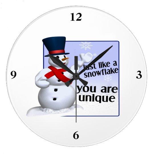 Unique Like A Snowflake Large Clock