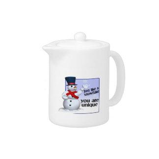 Unique Like A Snowflake Teapot