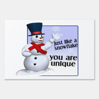 Unique Like A Snowflake Yard Sign