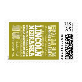 Unique Lincoln Nebraska Gift Idea Postage Stamps
