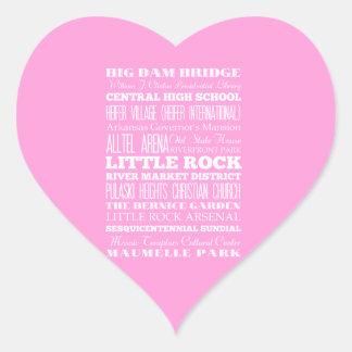 Unique Little Rock, Arkansas Gift Idea Heart Sticker