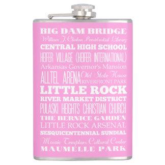 Unique Little Rock, Arkansas Gift Idea Hip Flask