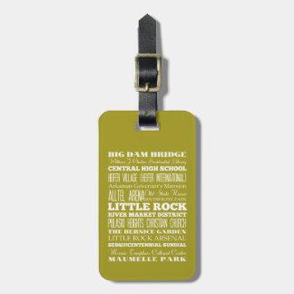 Unique Little Rock, Arkansas Gift Idea Luggage Tag