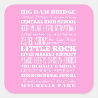 Unique Little Rock, Arkansas Gift Idea Square Sticker