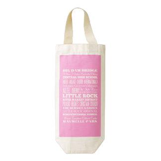 Unique Little Rock, Arkansas Gift Idea Zazzle HEART Wine Bag