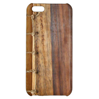 Unique look-wood & string bookbinding iphone case