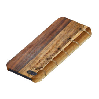Unique look-wood & string bookbinding iphone case case for iPhone 5