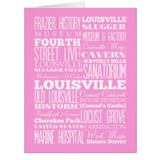 Unique Louisville,Kentucky Gift Idea Card