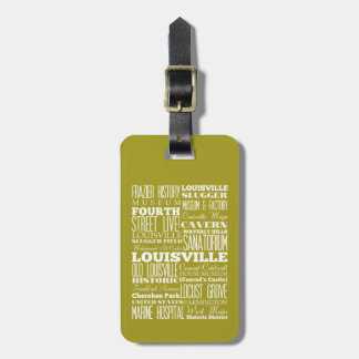 Unique Louisville, Kentucky Gift Idea Tags For Luggage
