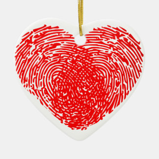 Unique Love Heart Romantic Personal Touch Double-Sided Heart Ceramic Christmas Ornament