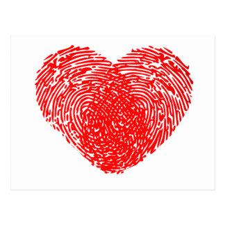 Unique Love Heart Romantic Personal Touch Postcards