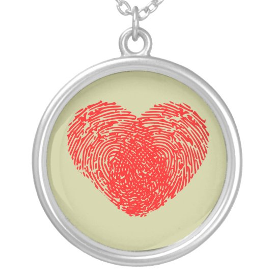 Unique Love Heart Romantic Personal Touch Silver Plated Necklace
