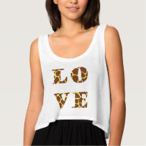 Unique Love in Giraffe pattern typography Tank Top