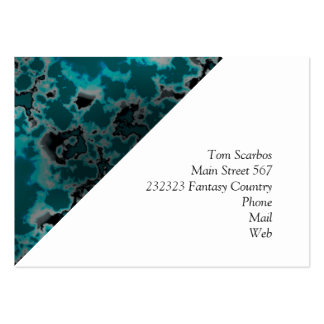unique marbled  teal (L) Large Business Card