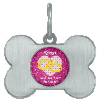 Unique Marriage Proposal for Dog Lovers Customized Pet ID Tags