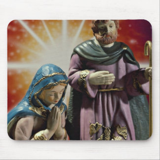 Unique Mary, Joseph and baby Jesus with colorful s Mouse Pad