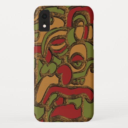 Unique Mayan Hieroglyphs Design iPhone XR Case