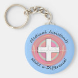 Unique Medical Assistant Gifts Basic Round Button Keychain