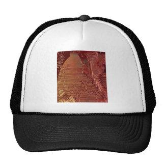 UNIQUE METALLIC ART DESIGN TRUCKER HAT