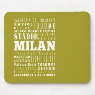 Unique Milan, Italy Gift Idea Mouse Pad