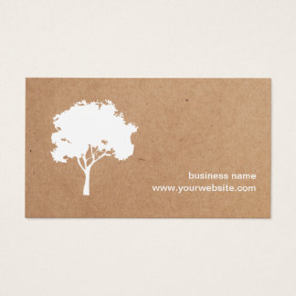Unique Minimalist White Tree Cardboard Landscaping Business Card