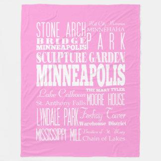 Unique Minneapolis,Minnesota Gift Idea Fleece Blanket
