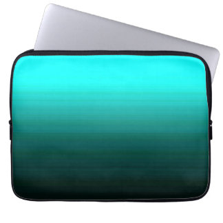 "Unique Mint Green Striations 13"" Laptop Sleeves"