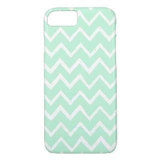 Unique Mint Green Zigzag Chevron Pattern iPhone 7 Case