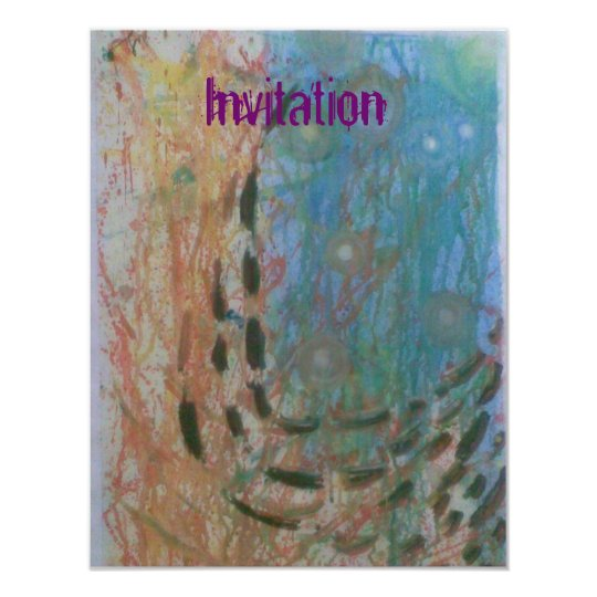Unique & Modern Abstract Invitation card