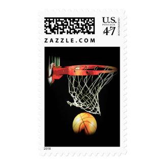 Unique Modern Basketball Artwork Postage Stamp