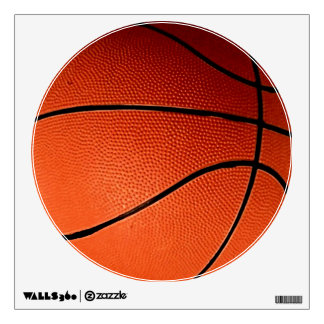 Unique Modern Basketball Circle Wall Decal