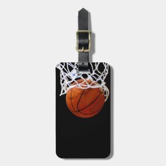 Unique Modern Basketball Luggage Tag