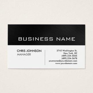 Unique modern black grey white business card