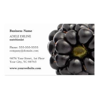 Unique Modern Blackberry Fruit Nutritionist Business Card