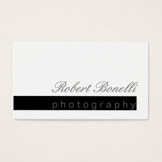Unique Modern Chic Cool Photography Business Card