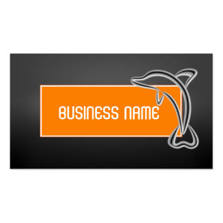 Unique Modern Chic Dolphin Business Card Template
