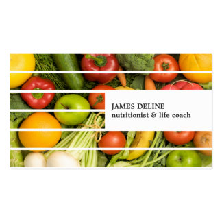 Unique Modern Colorful Vegetables Nutritionist Double-Sided Standard Business Cards (Pack Of 100)